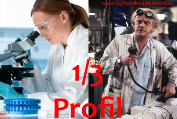 1/3 Profil – Experimentierender Forscher